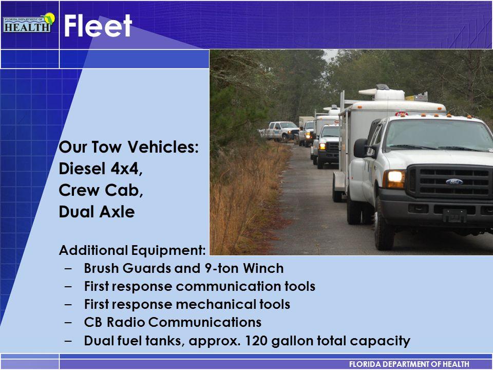 Fleet Our Tow Vehicles: Diesel 4x4, Crew Cab, Dual Axle