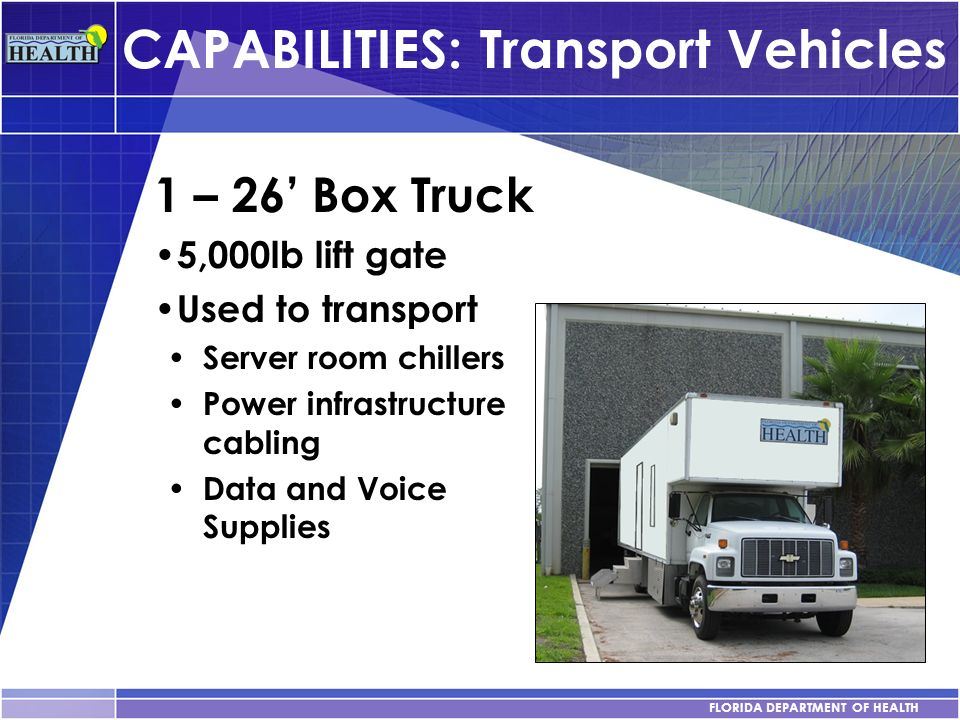 CAPABILITIES: Transport Vehicles