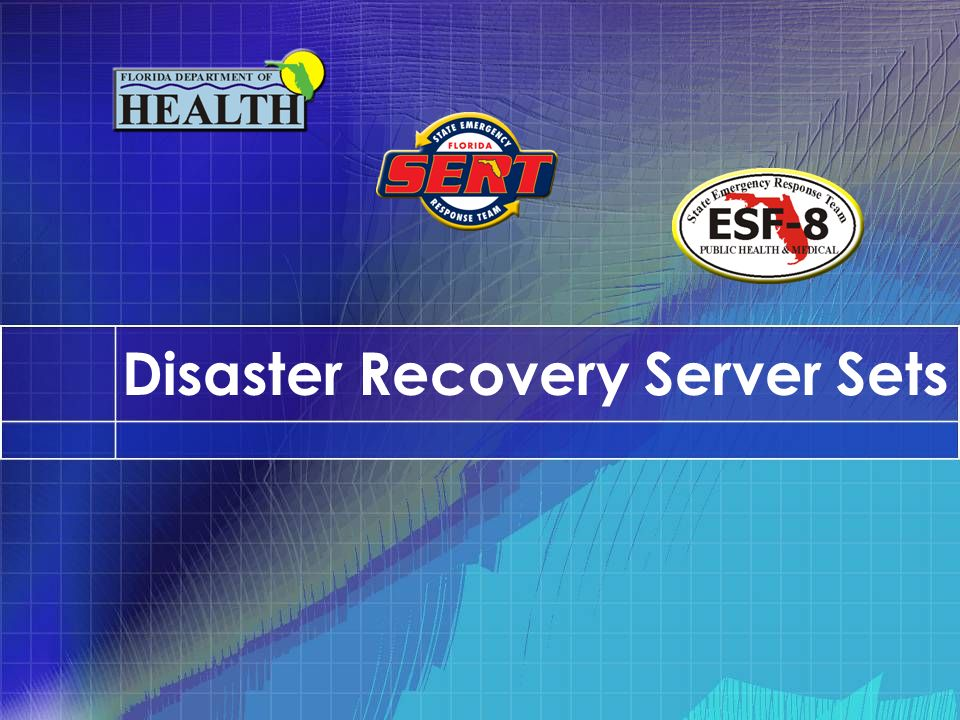 Disaster Recovery Server Sets
