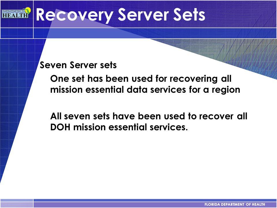 Recovery Server Sets Seven Server sets