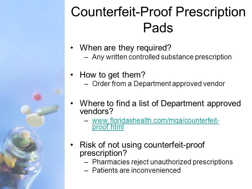 Counterfeit-Proof Prescription Pads