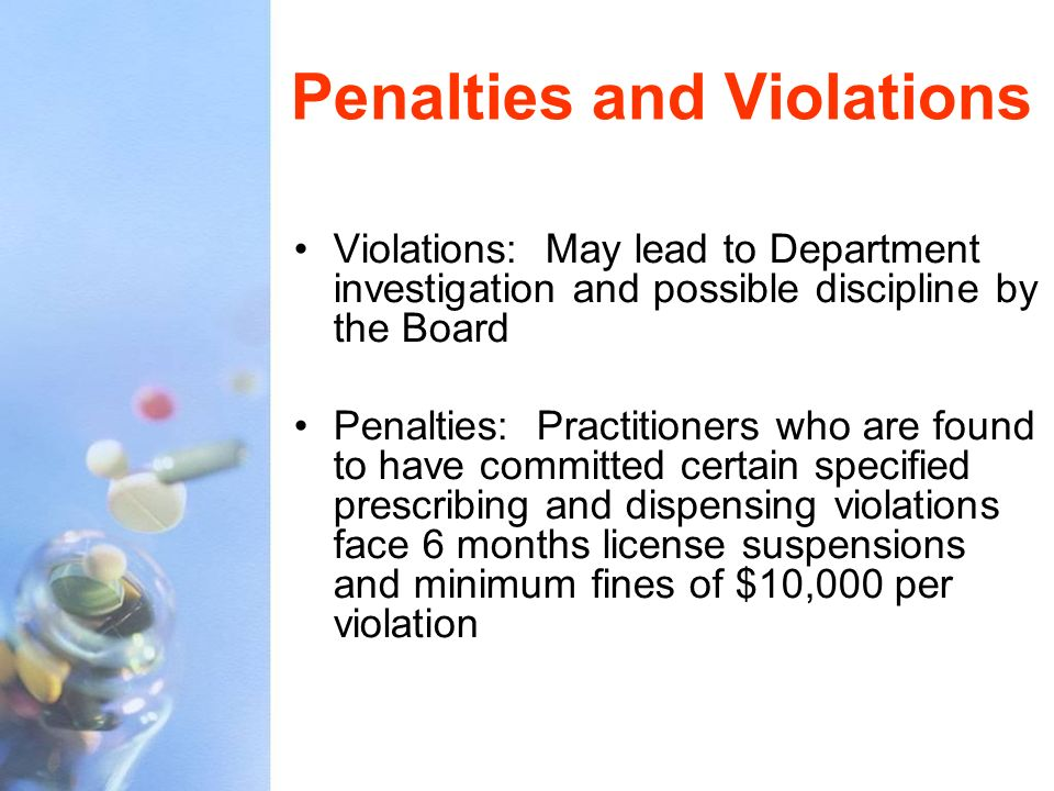 Penalties and Violations