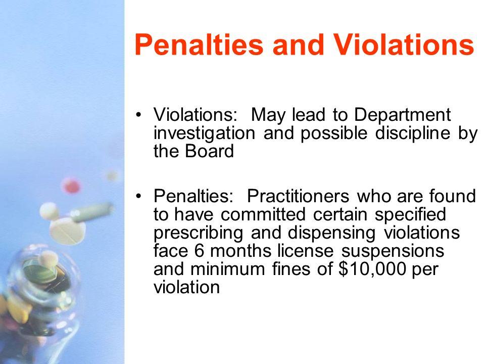 Penalties and Violations