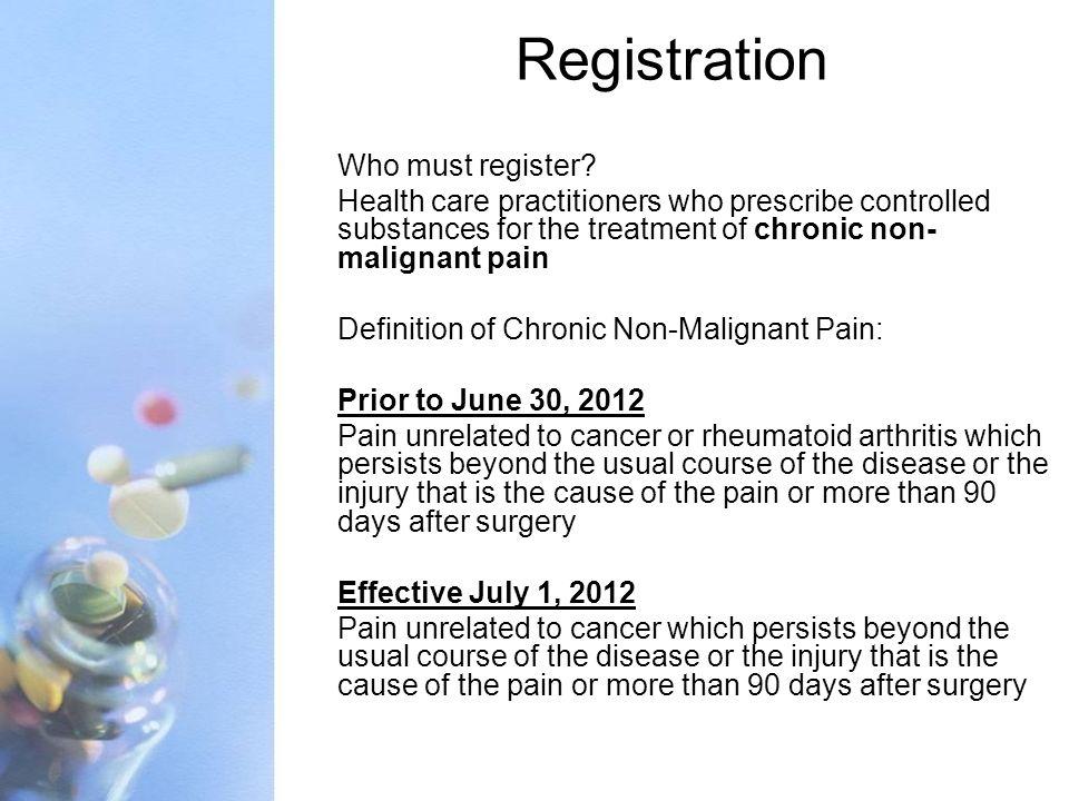 Registration Who must register