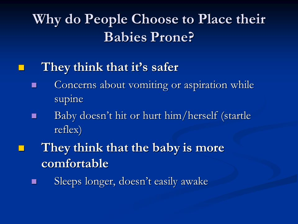 Why do People Choose to Place their Babies Prone