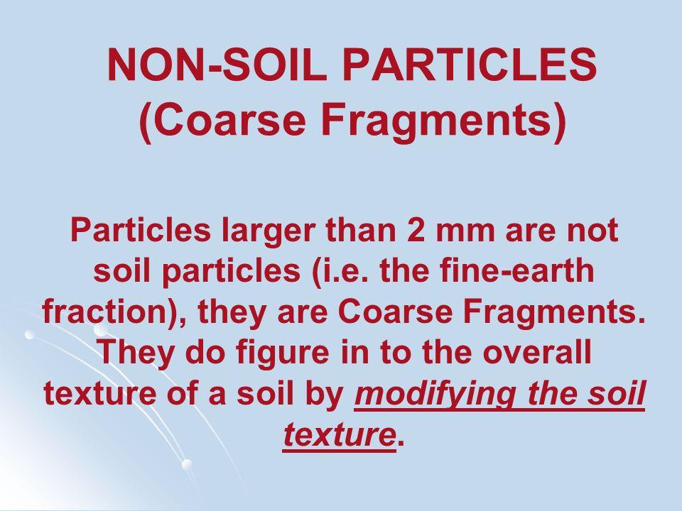 NON-SOIL PARTICLES (Coarse Fragments)