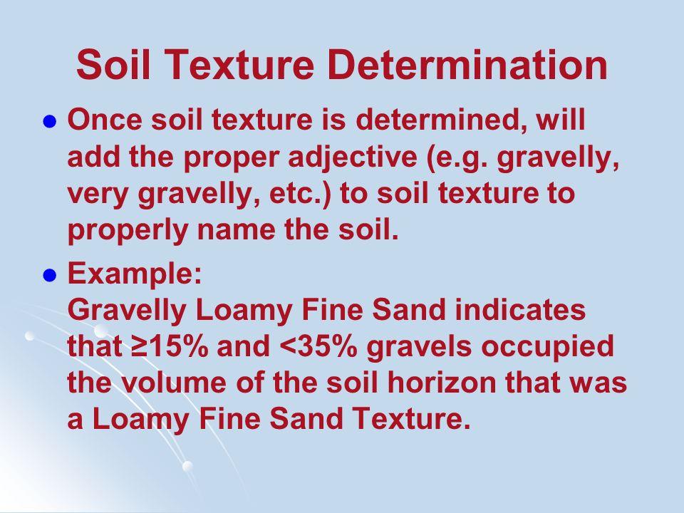 Soil Texture Determination