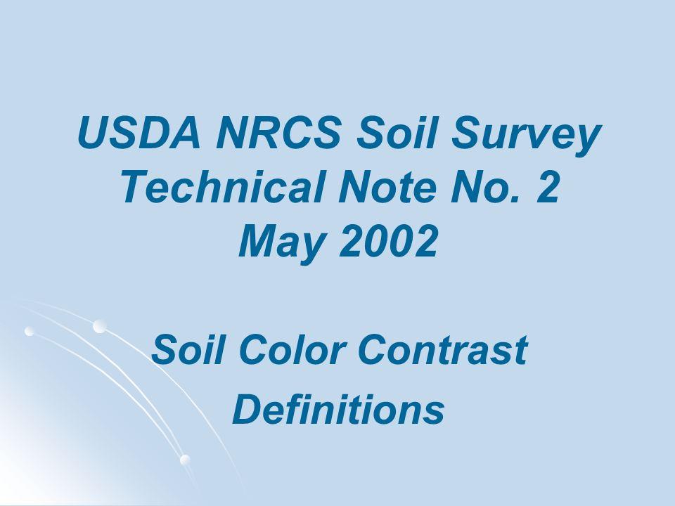 USDA NRCS Soil Survey Technical Note No. 2 May 2002