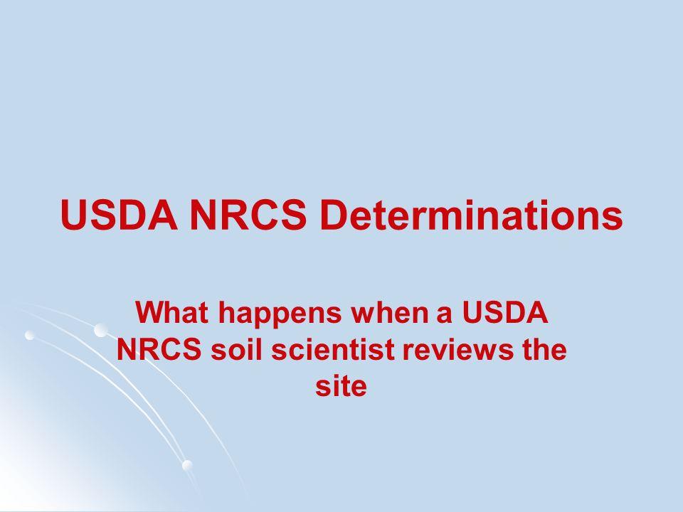 USDA NRCS Determinations