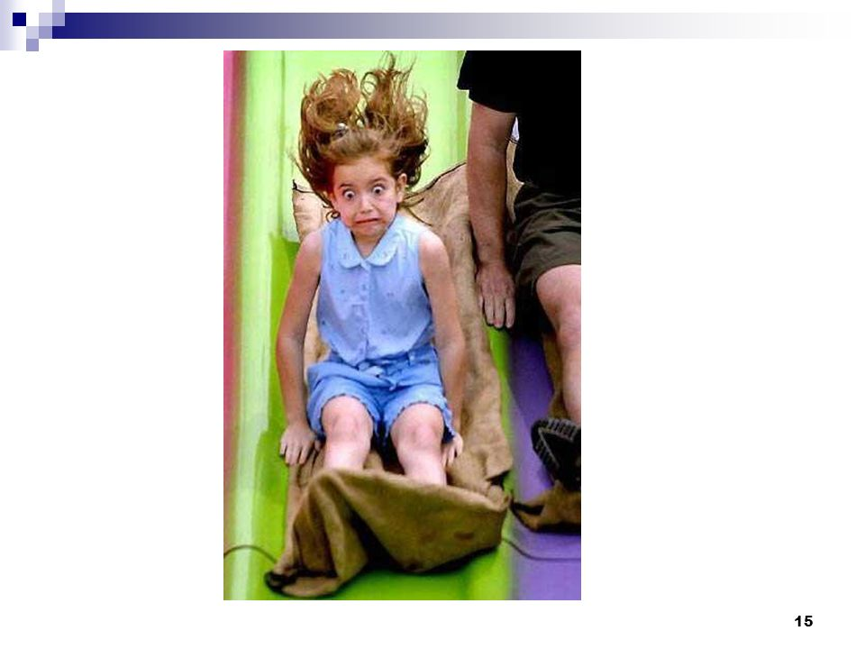 Note to Facilitator: (Should see a picture of girl sliding down big slide) Point out the commonalities between the cat's reactions and the girl's.