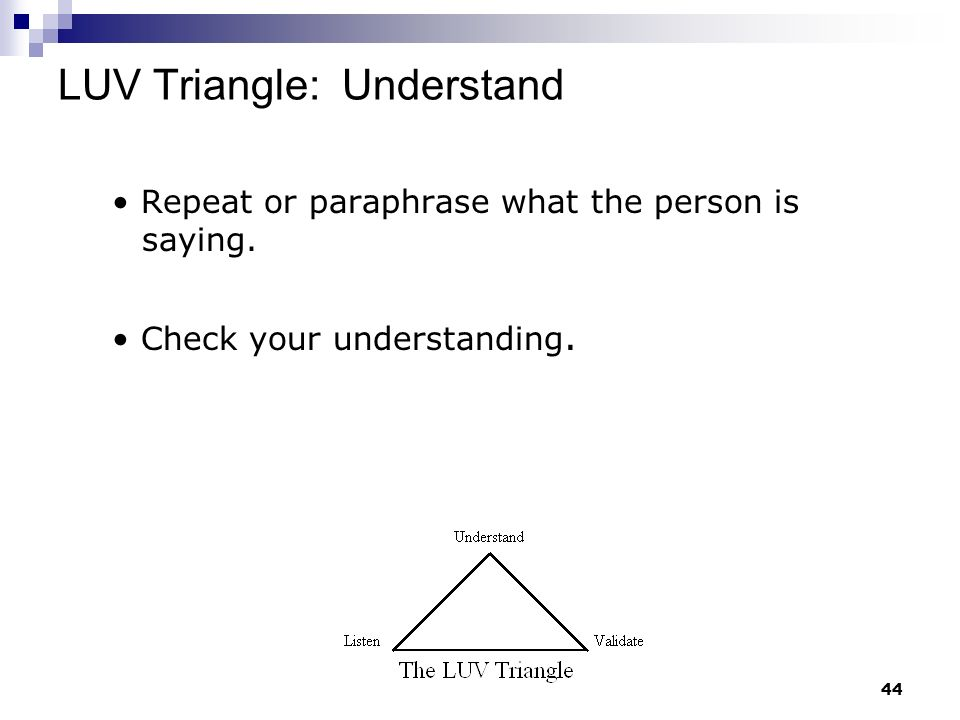 LUV Triangle: Understand