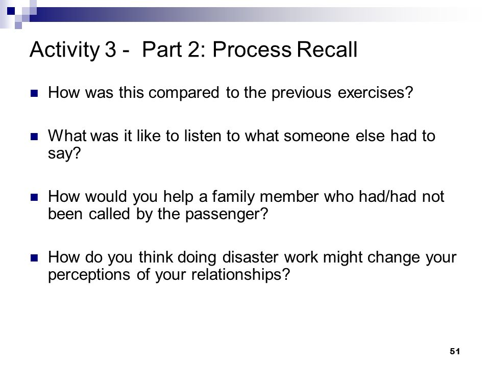 Activity 3 - Part 2: Process Recall