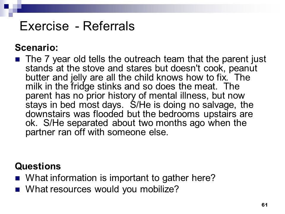 Exercise - Referrals Scenario: