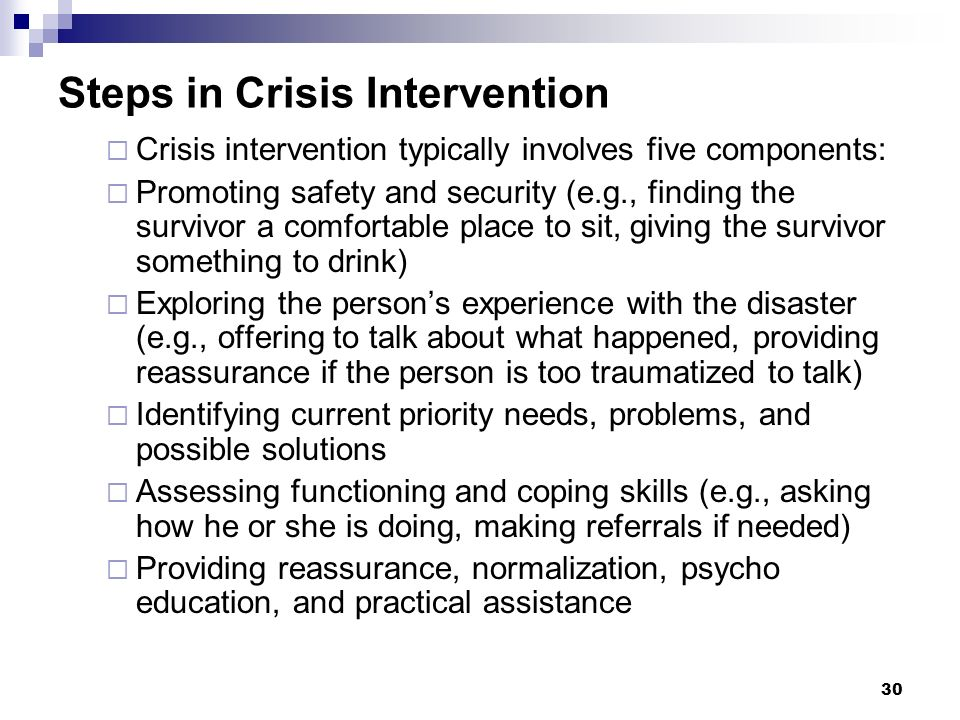 Steps in Crisis Intervention