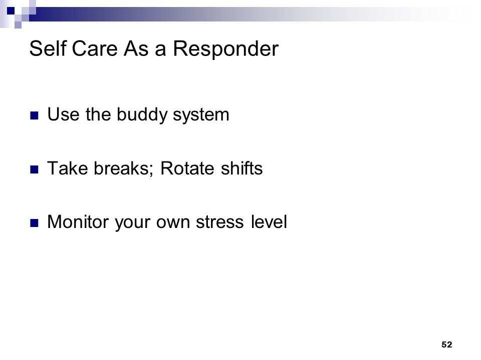Self Care As a Responder