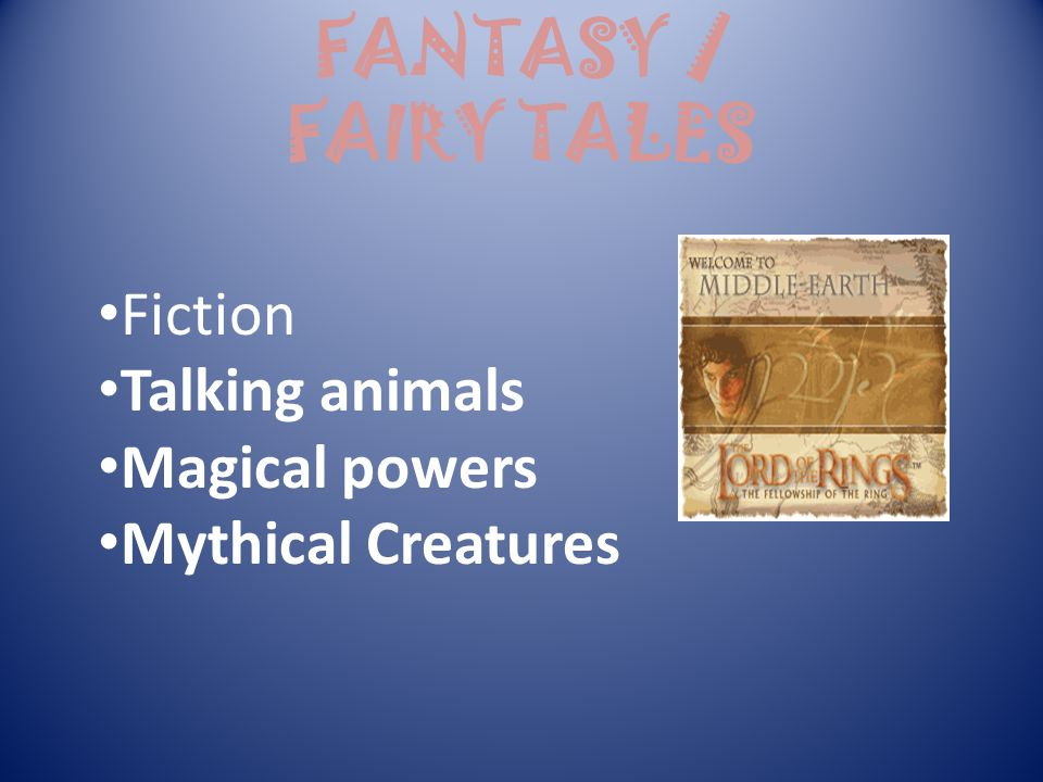 FANTASY / FAIRY TALES Fiction Talking animals Magical powers