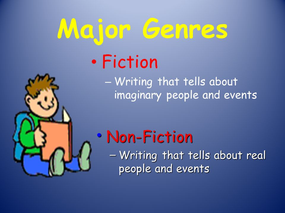 Major Genres Fiction Non-Fiction