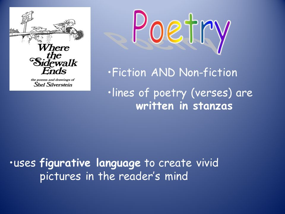 uses figurative language to create vivid pictures in the reader's mind