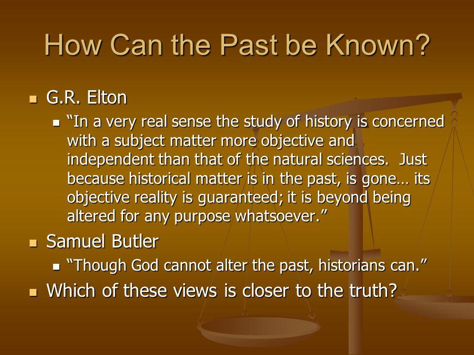 gr elton definition of hostory