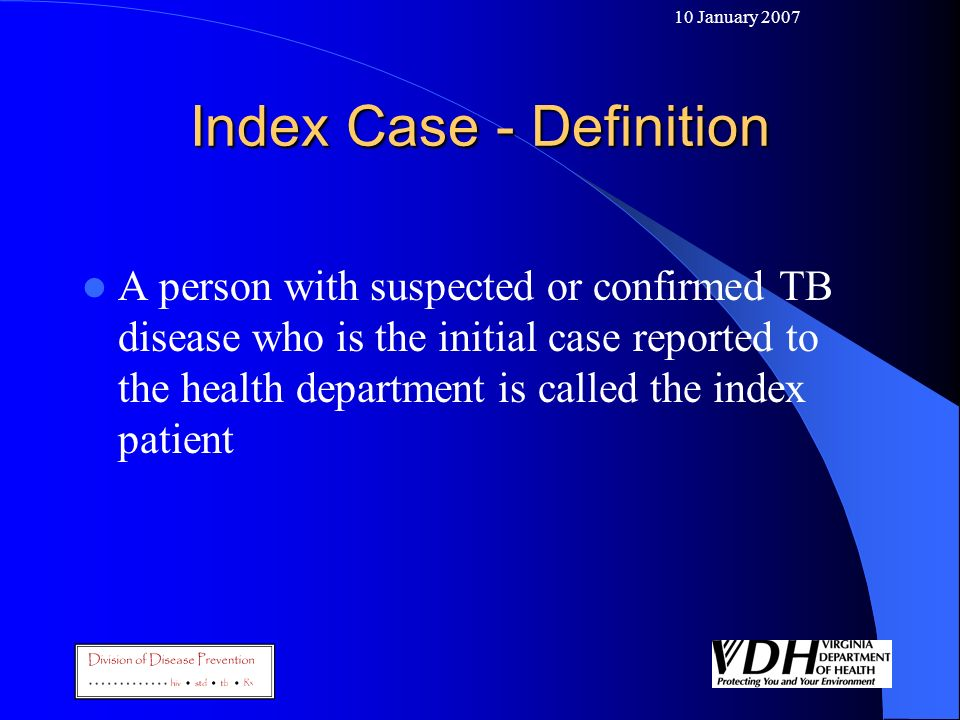 Index Case - Definition