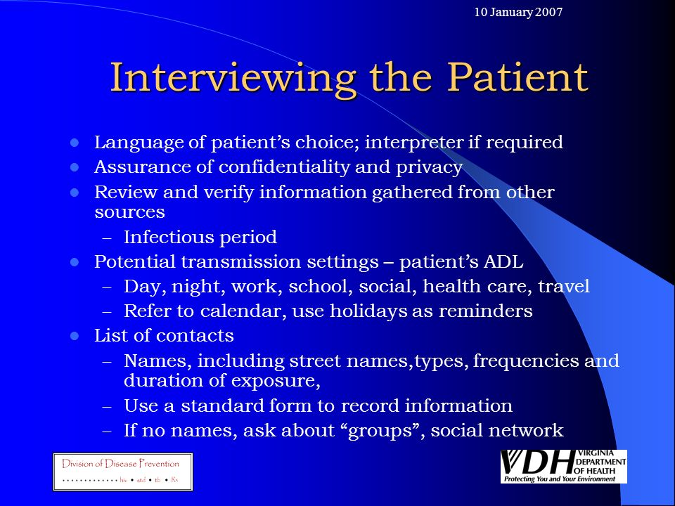 Interviewing the Patient