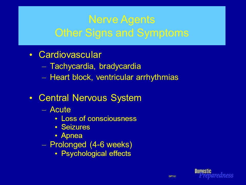 Nerve Agents Other Signs and Symptoms