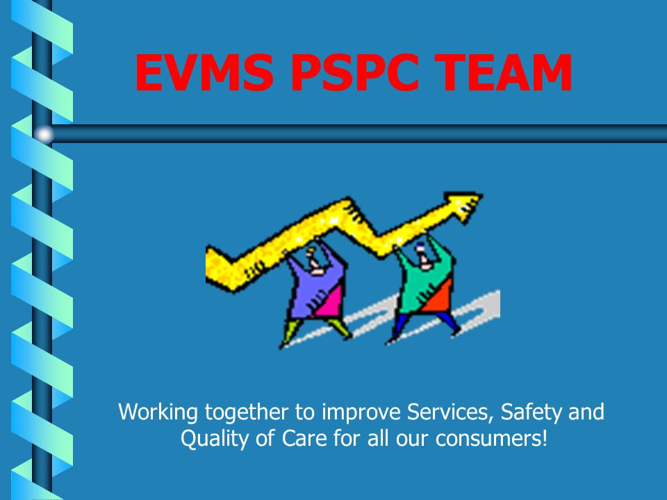 EVMS PSPC TEAM Working together to improve Services, Safety and