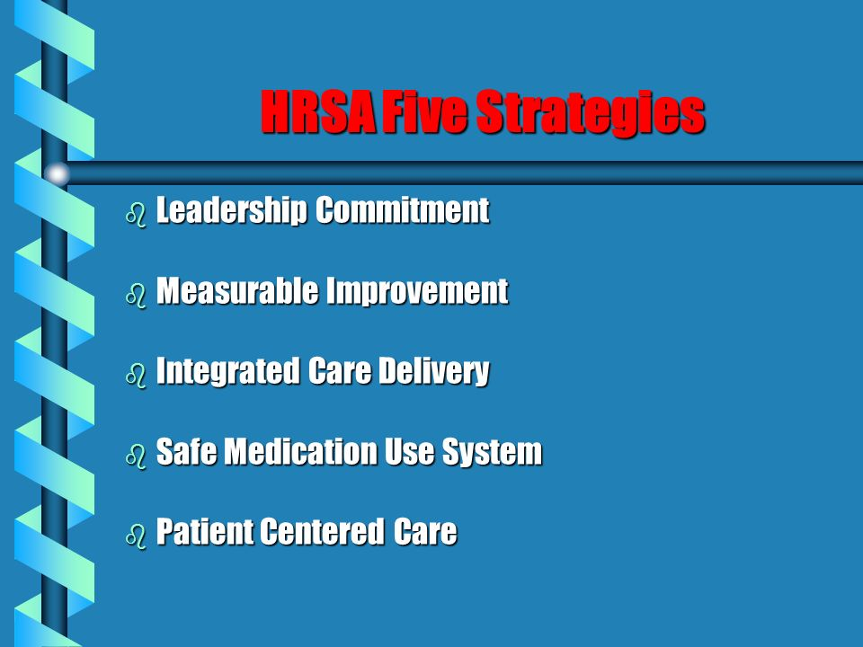 HRSA Five Strategies Leadership Commitment Measurable Improvement