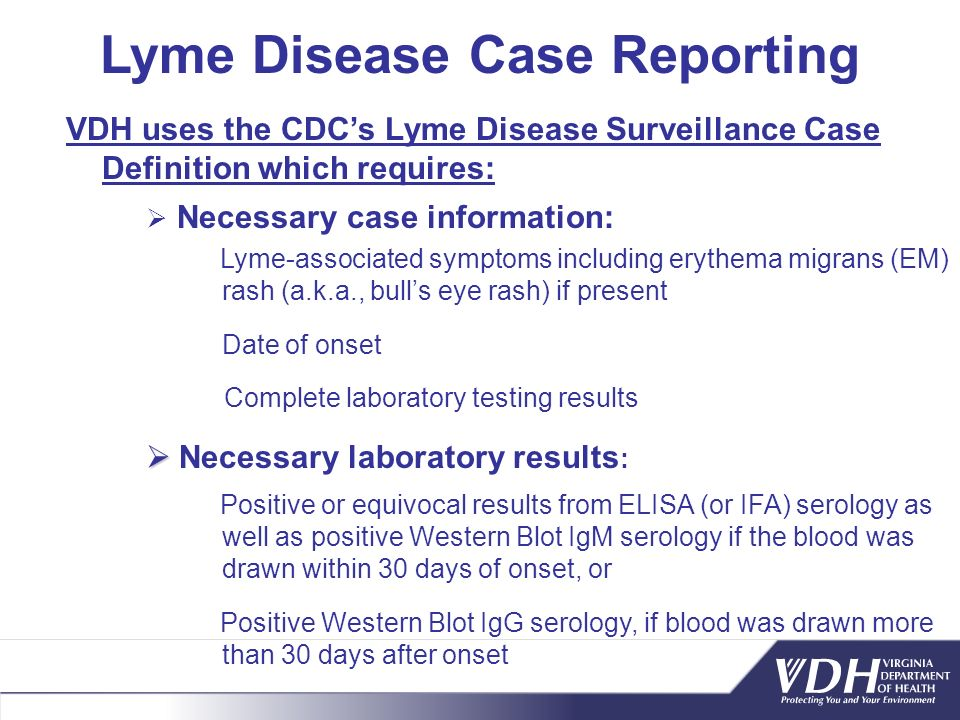 Lyme Disease Case Reporting