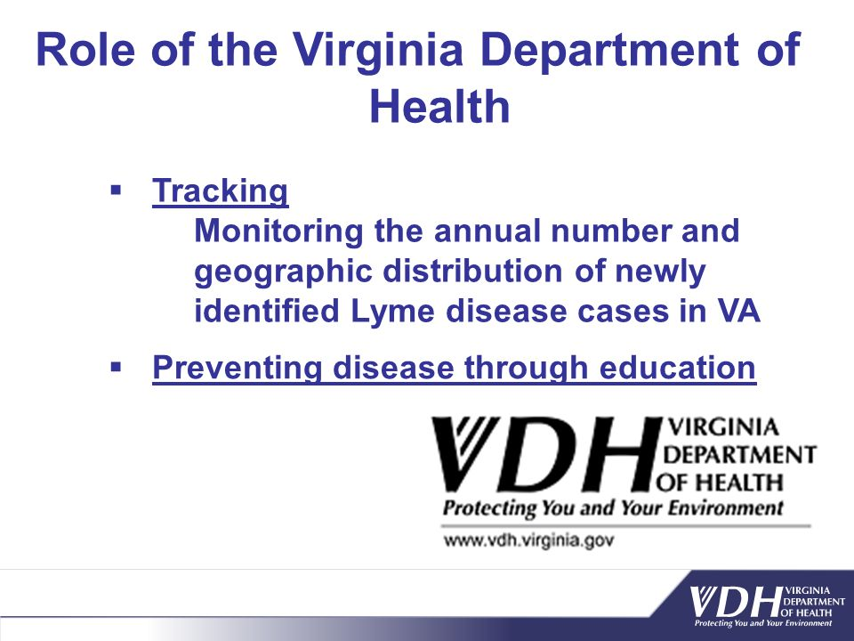 Role of the Virginia Department of Health