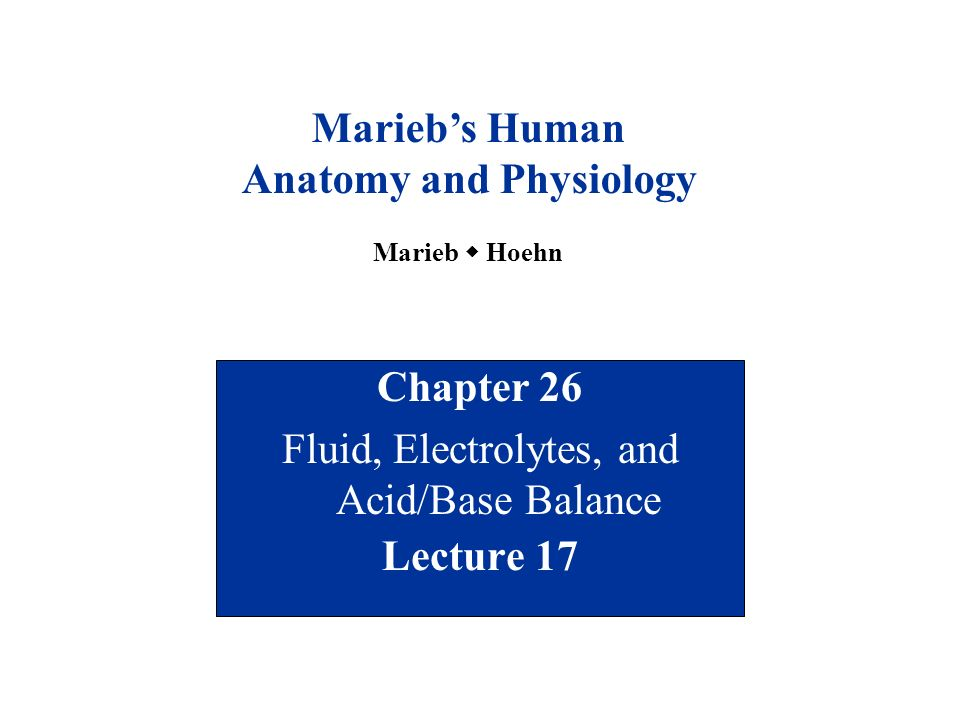 Chapter 26 Fluid, Electrolytes, and Acid/Base Balance Lecture ppt ...