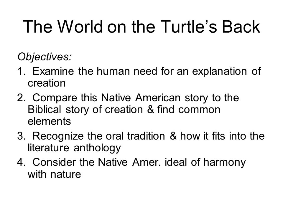 The World on the Turtle's Back