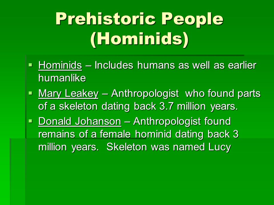Prehistoric People (Hominids)
