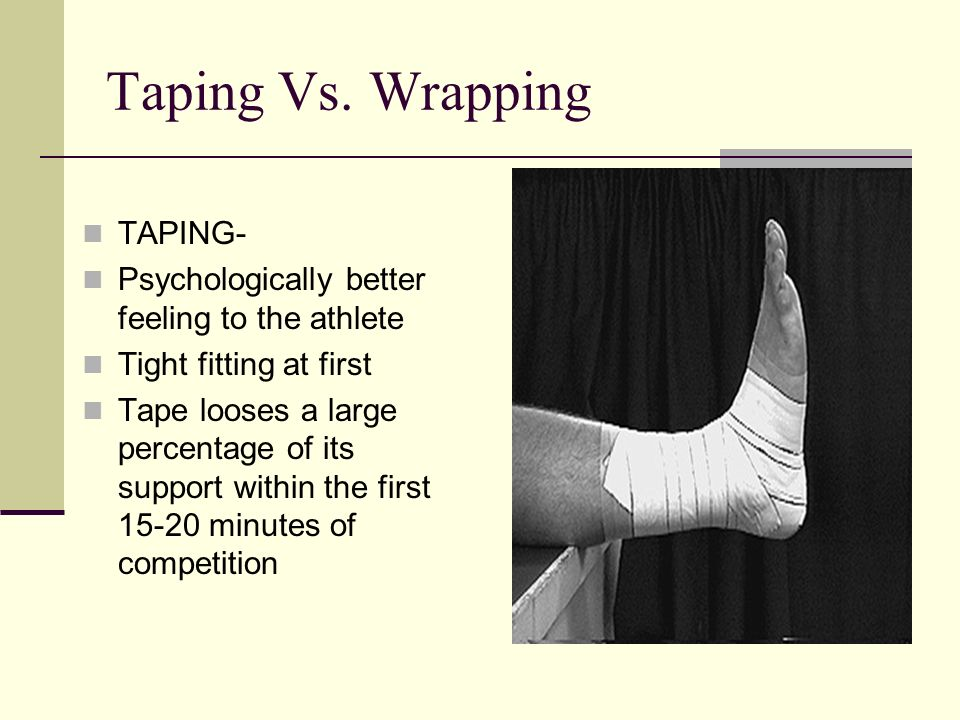 Taping Vs. Wrapping TAPING-