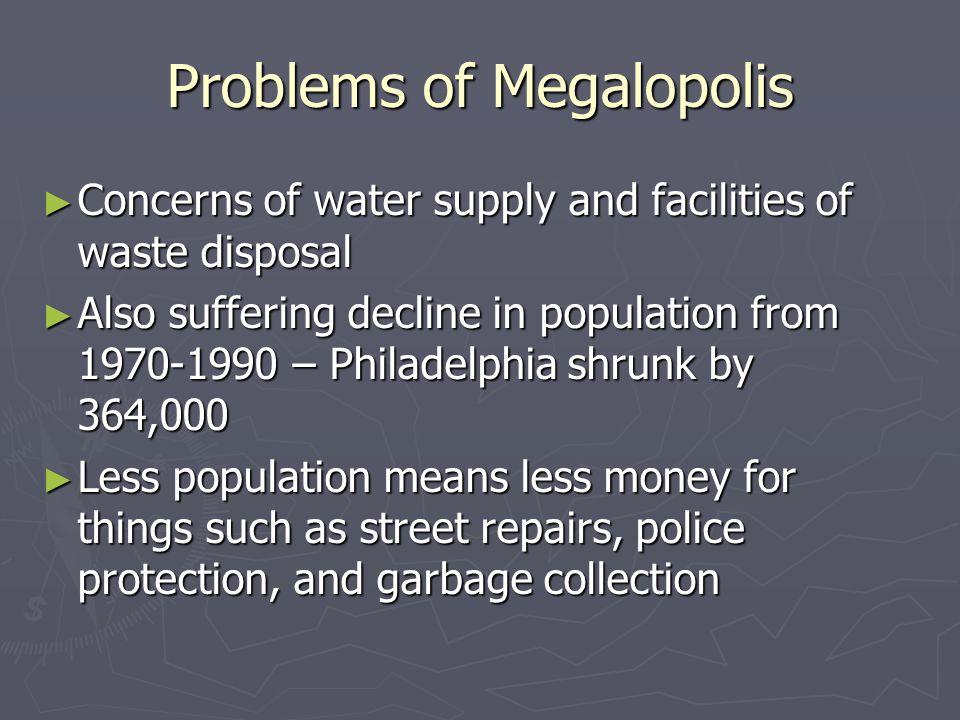 Problems of Megalopolis