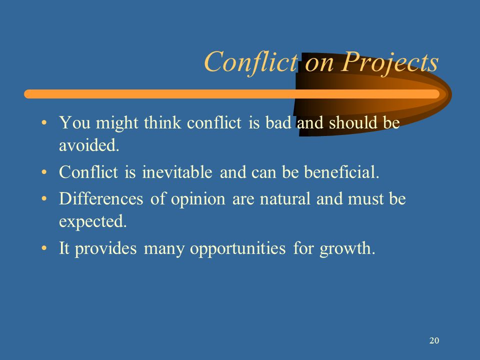 "conflict is natural and inevitable Diversity conflict is an inevitable, normal, and natural response by individuals, groups, or organizations to differences experienced in ""the other"" in order to maintain boundaries, integrity, and well-being."