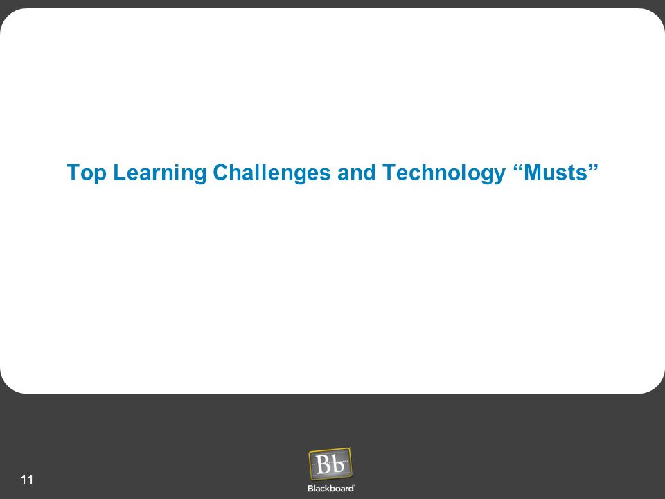 Top Learning Challenges and Technology Musts