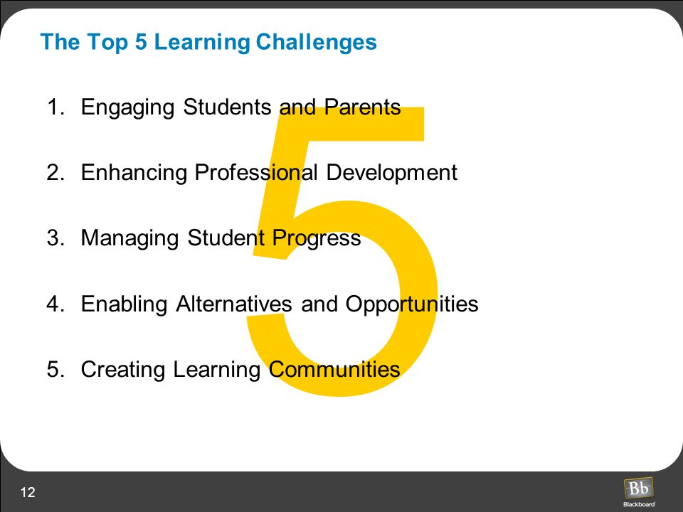 The Top 5 Learning Challenges