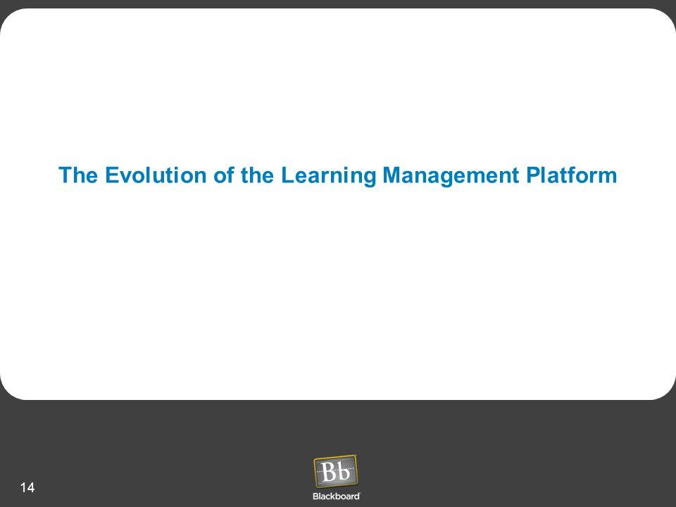 The Evolution of the Learning Management Platform