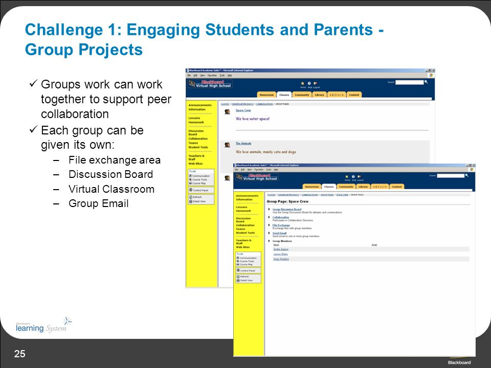 Challenge 1: Engaging Students and Parents - Group Projects