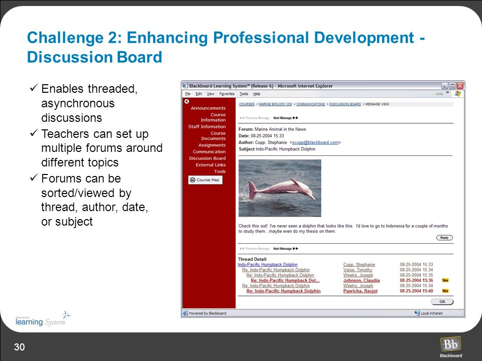 Challenge 2: Enhancing Professional Development - Discussion Board
