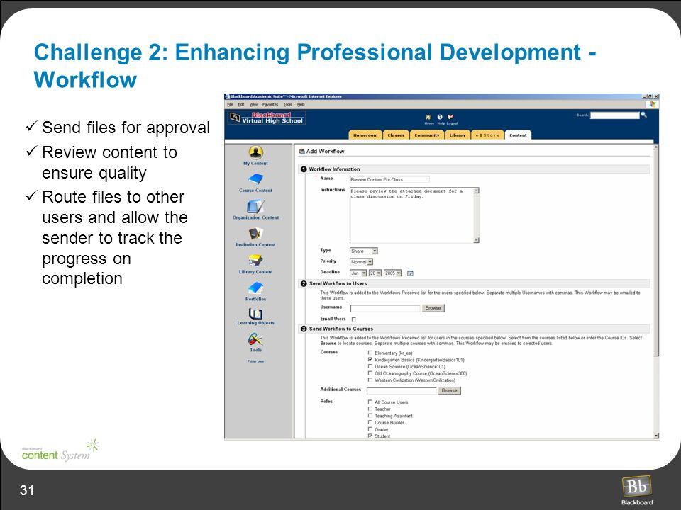 Challenge 2: Enhancing Professional Development - Workflow