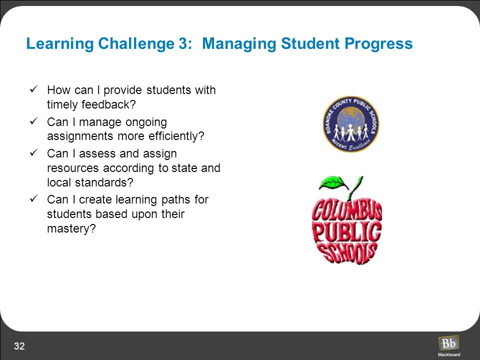 Learning Challenge 3: Managing Student Progress