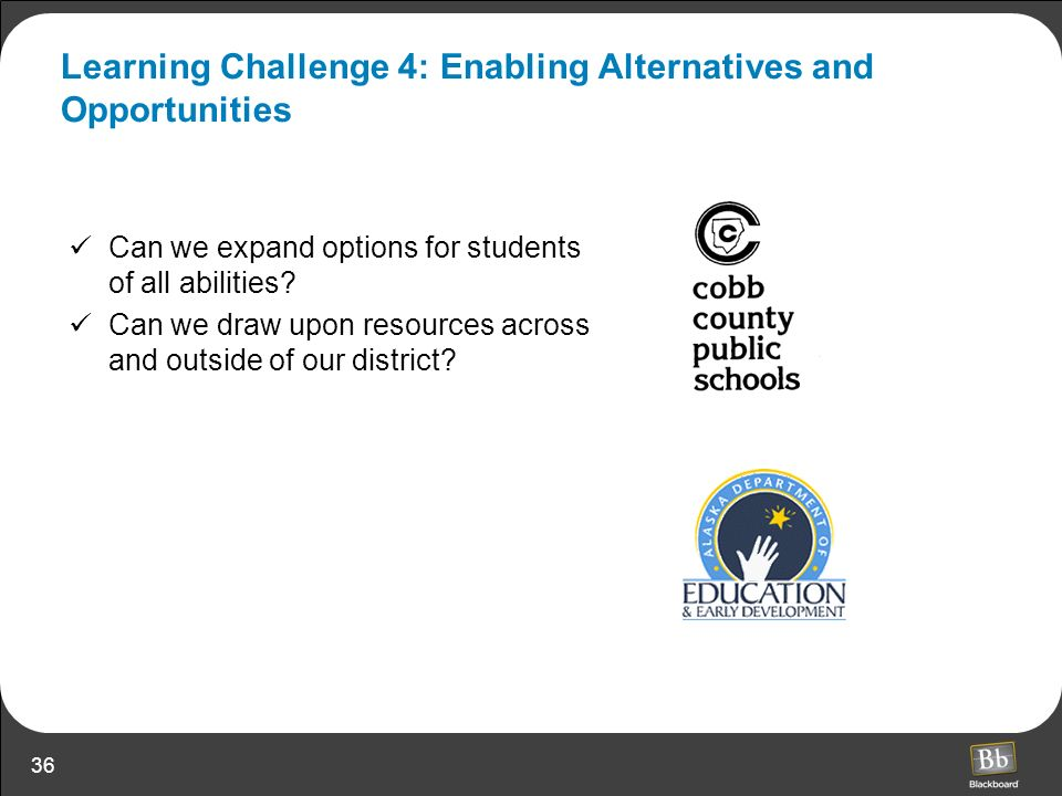 Learning Challenge 4: Enabling Alternatives and Opportunities