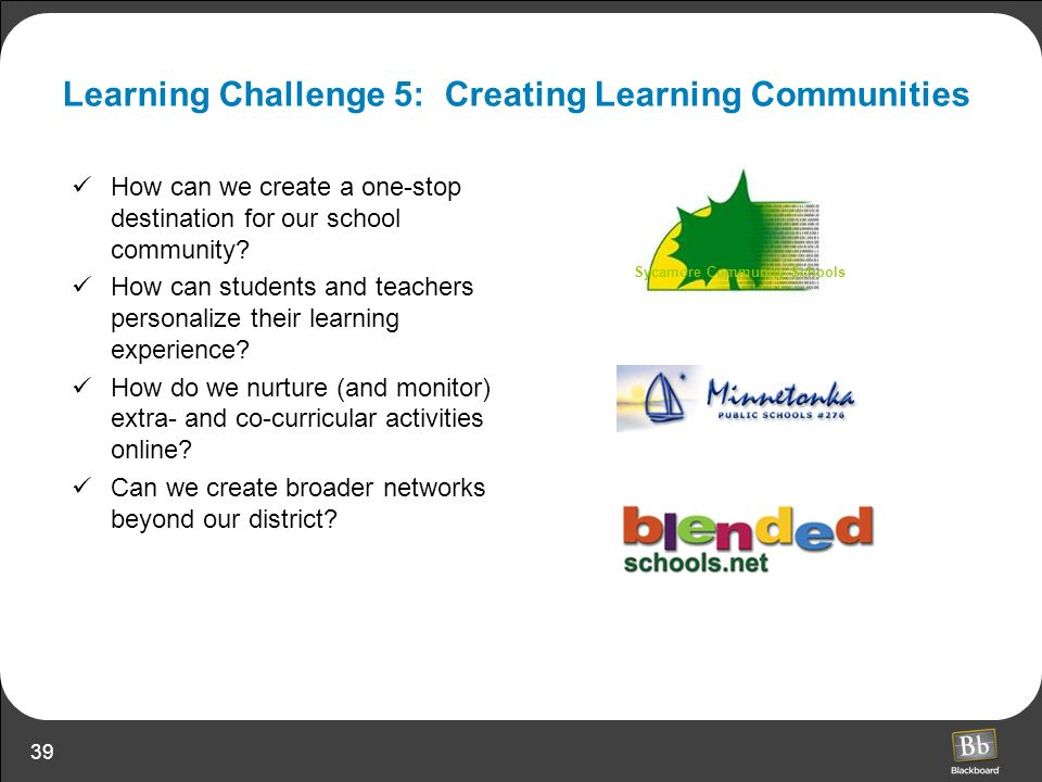 Learning Challenge 5: Creating Learning Communities