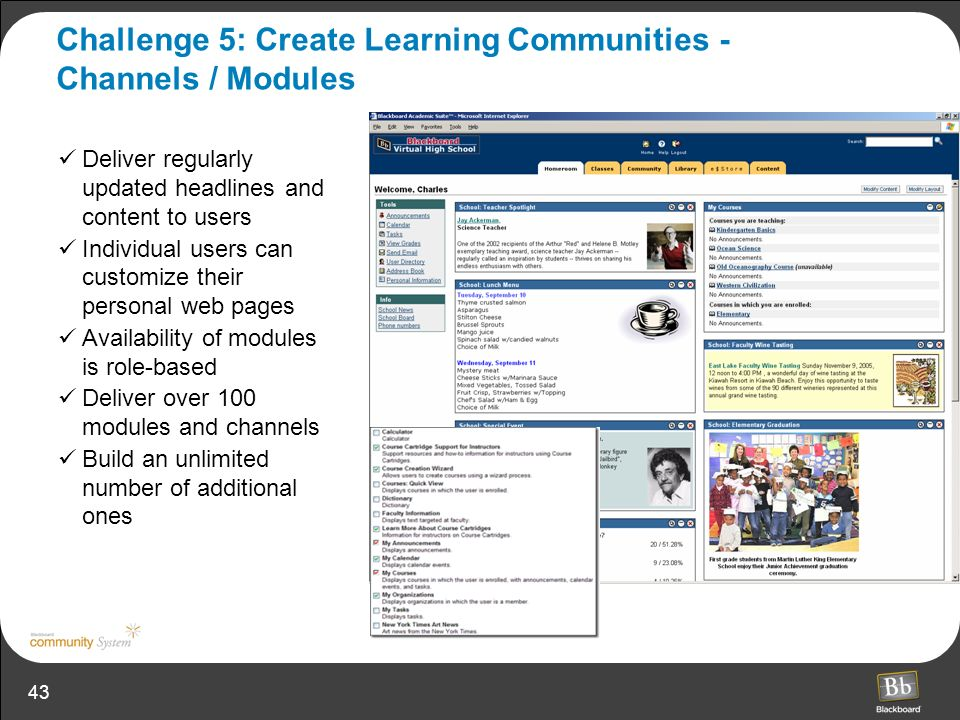 Challenge 5: Create Learning Communities - Channels / Modules