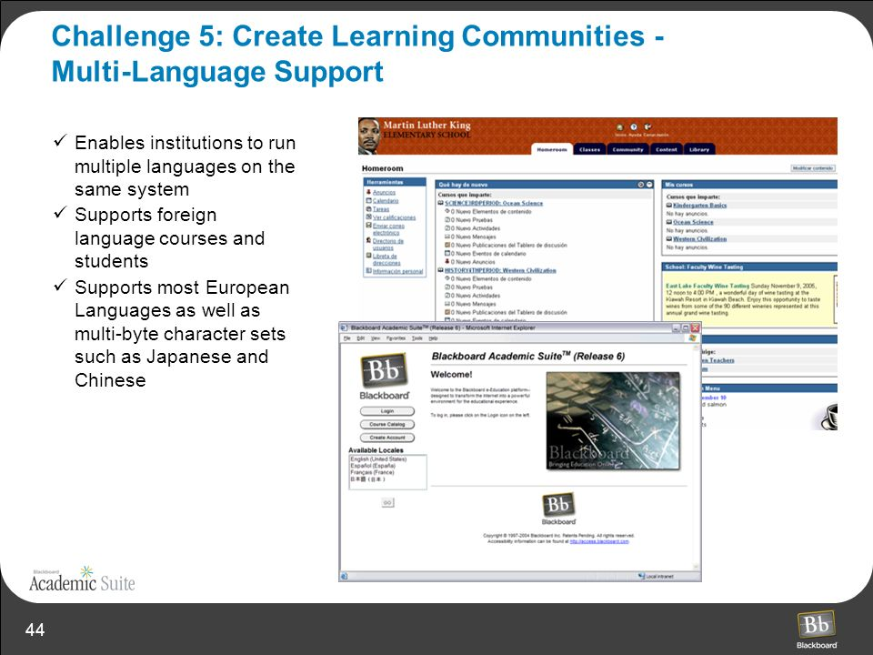 Challenge 5: Create Learning Communities - Multi-Language Support