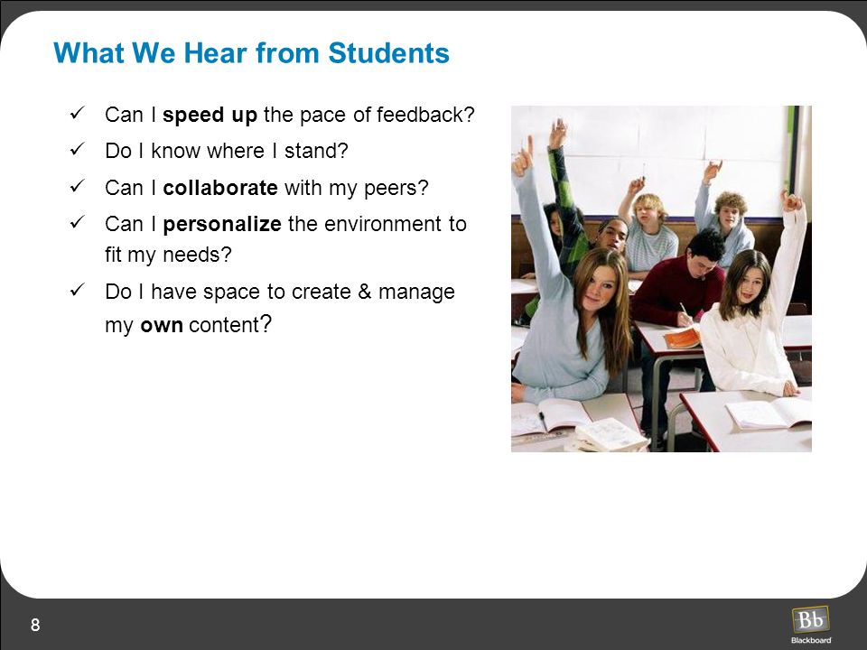 What We Hear from Students