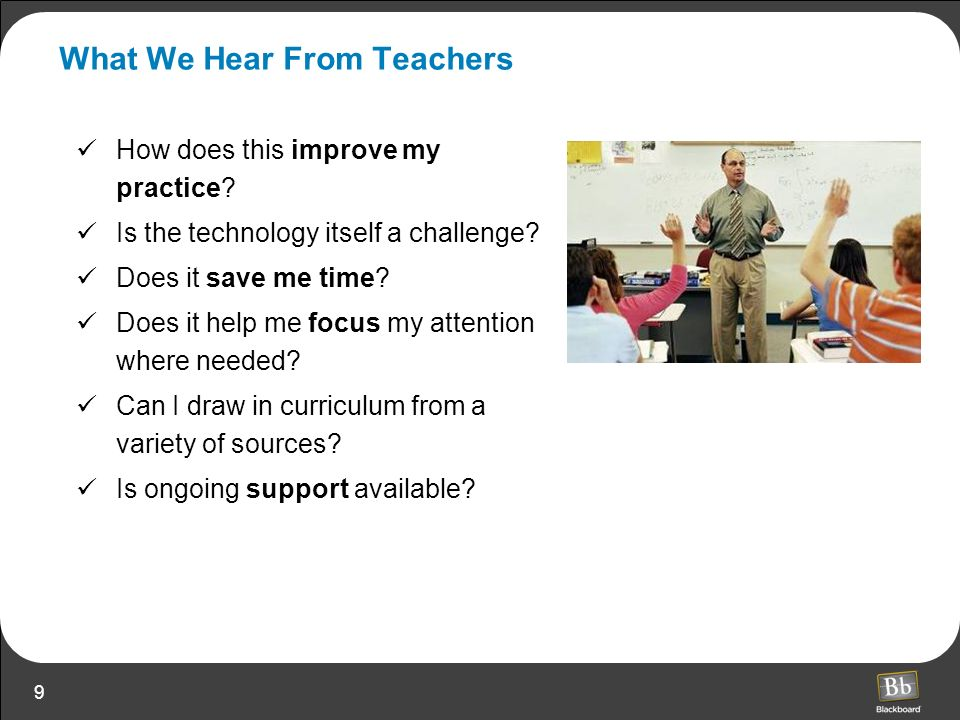 What We Hear From Teachers