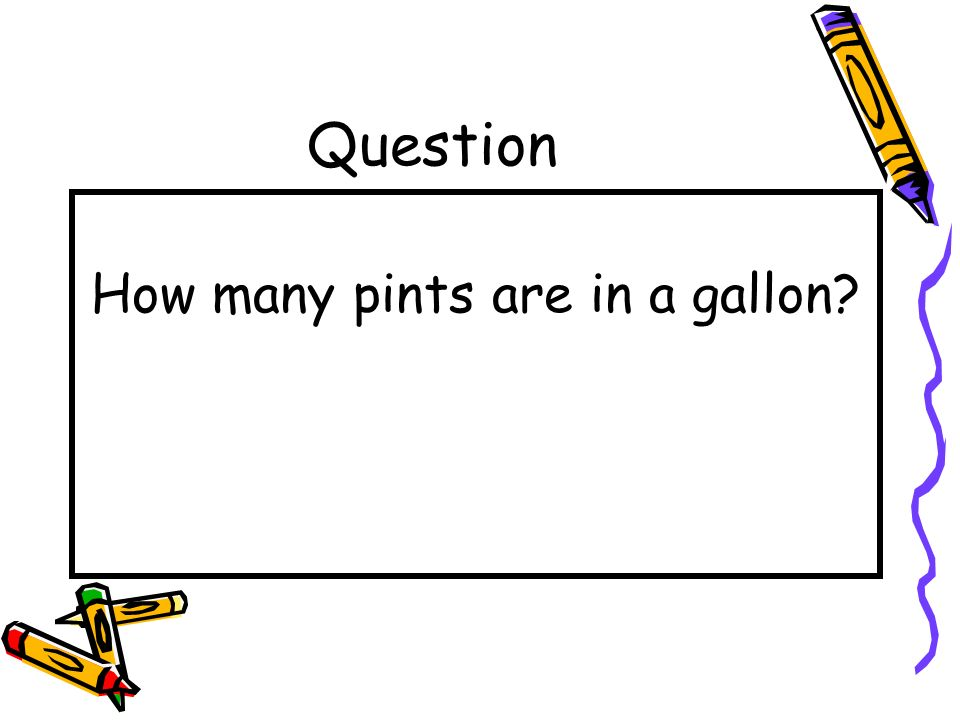 How many pints are in a gallon